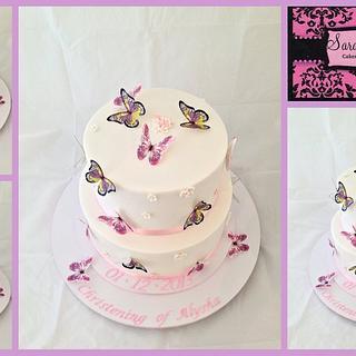 Christening Cake - Cake by Wendy - Saraphia Kakes