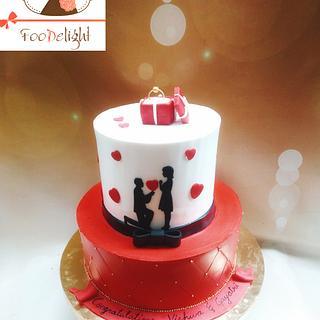 Engagement cake - Cake by Shruti agarwal