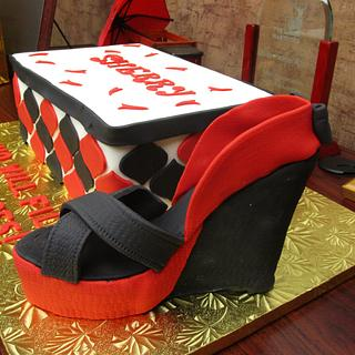 Wedge shoe cake