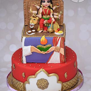 Incredible India Collaboration - Goddess Durga cake