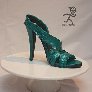 My first life size Stiletto Shoe in Sugarpaste - Cake by Ciccio