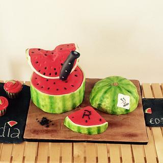 Hello Summer! Watermelon birthday cake 🍉 - Cake by DulcesSuenosConil