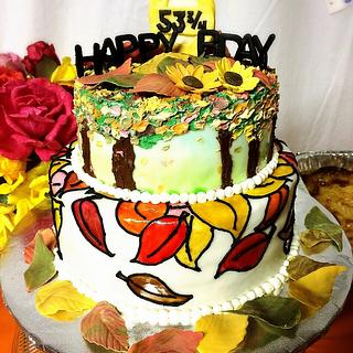 Fall birthday cake - Cake by Emsspecialtydesserts