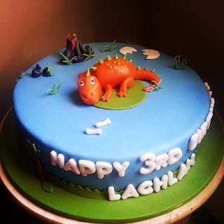 Dinosaur cake - Cake by Edelcita Griffin (The Pretty Nifty)