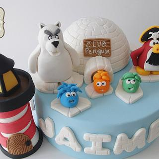 Club penguin - Cake by miraquetarta