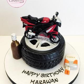 Motorcycle Wheel Cake🏍❤️
