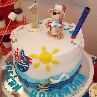 Meda mornar#fondan cake#rodjendanska torta#dečije torte - Cake by Vesna