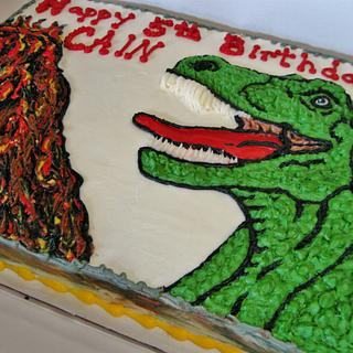 T-Rex cake in all buttercream - Cake by Nancys Fancys Cakes & Catering (Nancy Goolsby)