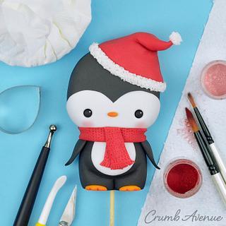 Cute Penguin Cake Topper - Cake by Crumb Avenue