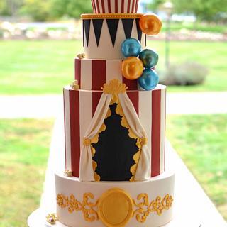 Vintage Carnival Wedding Cake