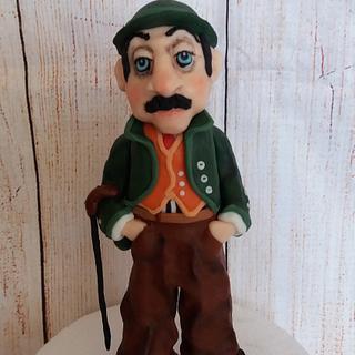 Charlie Chaplin - Cake by Petra