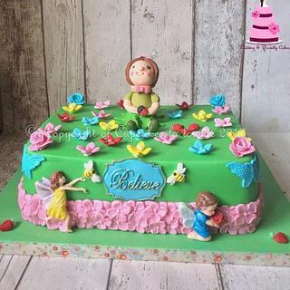 Fairy garden cake - Cake by Cupcakes la louche wedding & novelty cakes