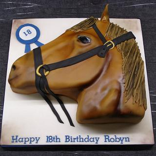 Horse head cake - Cake by That Cake Lady