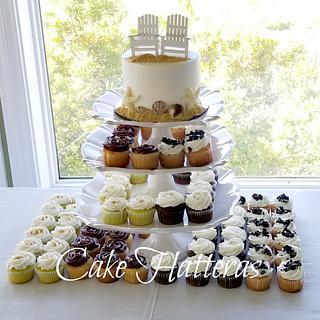 Beach Wedding Cupcakes