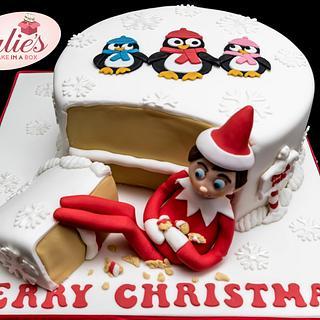 Elf on the Shelf Christmas Cake