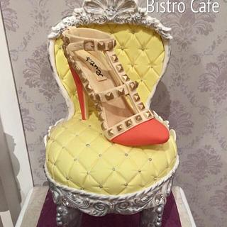 Deluxe High Heel and Chair Cake