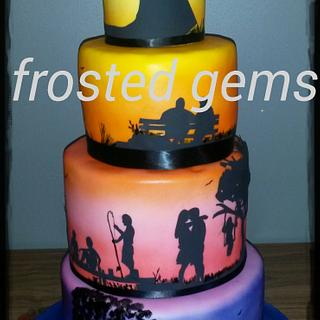 Silhouette Story Cake