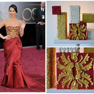 Marchesa Oscar Dress Cake
