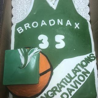 Basketball graduation cake.