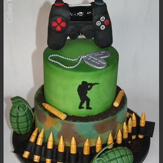 Playstation 4 Call of Duty - Cake by Cakes for Fun_by LaLuub