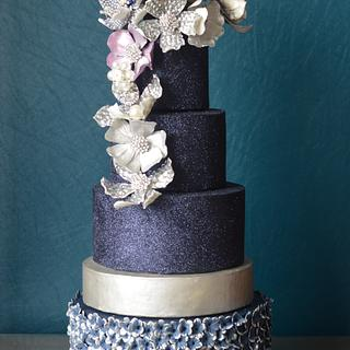Jeweled cake for American Cake Decorating Trend issue