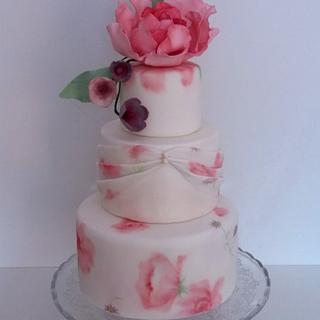 rose peony cake