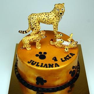 Cheetahs Birthday Cake