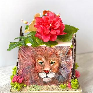 Zodiac Lion cake