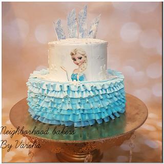 Frozen theme cake  - Cake by Varsha Bhargava