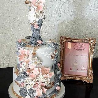 Floral and harmonious cake - Cake by Fées Maison (AHMADI)