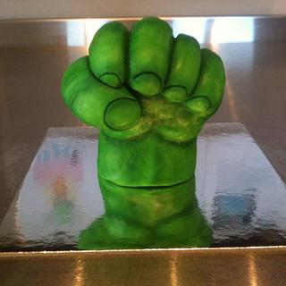 Hulk Fist - RKT & Modelling Chocolate progress pictures