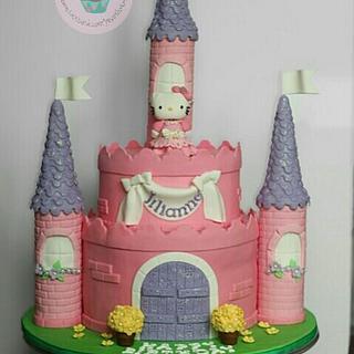 Hello Kitty Princess Theme Cake