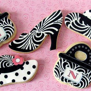 Black & White Fashion Cookies