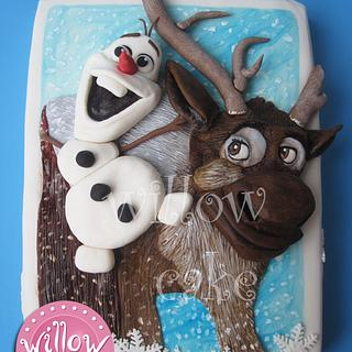 """Olaf and Sven, """"Frozen"""" cake - Cake by Willow cake decorations"""