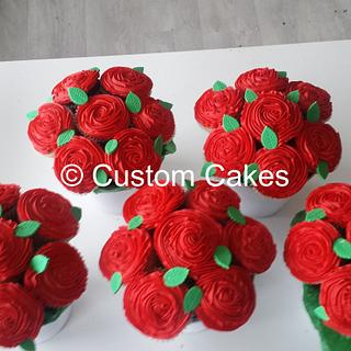 Red Cupcake Bouquets