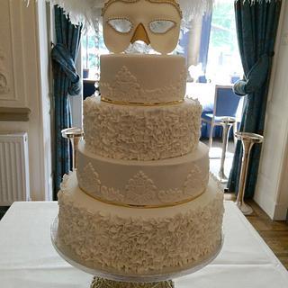 Venetian Ball Wedding Cake