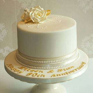 50th Golden Anniversary Cake