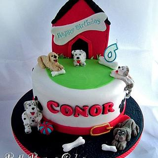 Puppies Cake for Conor - Cake by Ruth Byrnes