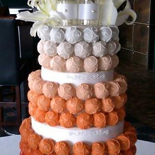 Ombre Cake Bite Cake
