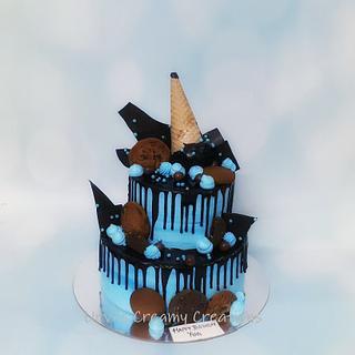 Chocolate Drip Cake - Cake by Urvi Zaveri
