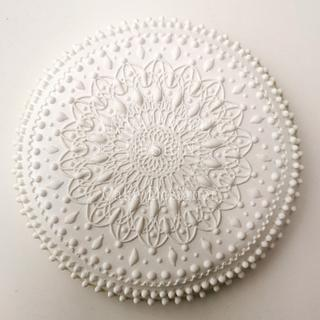 White Mandala Cookie
