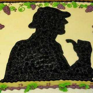 Sherlock holmes w/ grapes & vines Birthday/ Murder Mystery party