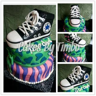 Retro AllStars Chuck Taylor Cake! - Cake by Timbo Sullivan