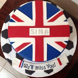 British Flag Farewell Cake