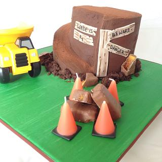 Dirt mountain cake