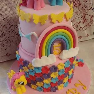 My little pony cake. - Cake by Bouchybakes