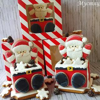 3D gingerbread Santa Claus