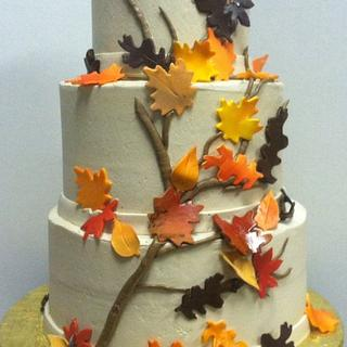 Fall Wedding three tier