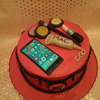 30th make up cake - Cake by Red Alley Cakes (Alison Rankin)