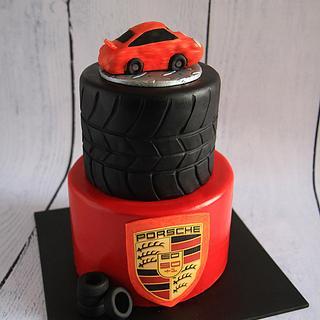 Orange Porsche Cake